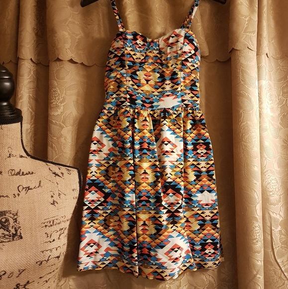 As U Wish Dresses & Skirts - As U Wish Aztec print Mini
